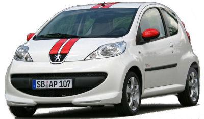 Présentation de la version spéciale à décoration sportive Peugeot 107 Street Racing. Motorisée par un 1,0L essence de 68ch... La bombe.